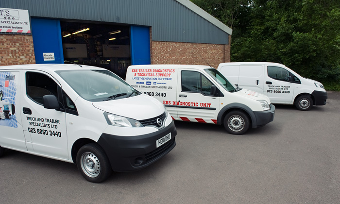 Part of the tts delivery fleet